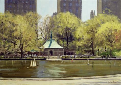 boating in central park painting the boating lake central park new york julian barrow
