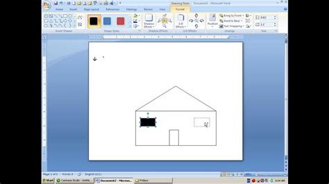 draw  house  ms word shapes  layers youtube