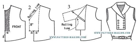pattern drafting of collars drafting collar and vest pattern making com