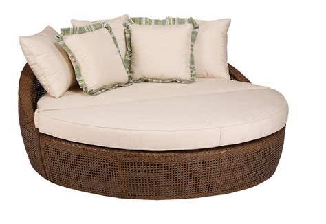 lounge bench seating brown luxurious round outdoor lounge chair plushemisphere