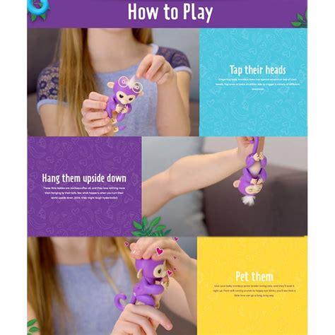 mainan interaktif fingerlings monkey smart blue jakartanotebook