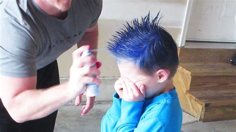 can hair dye be used on lillte boy hair spray painted hair youtube