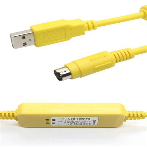 Mitsubishi Sc09 Fx Series Plc Cable usb sc09 fx plc programming cable upgrade for mitsubishi fx series support win7 ebay
