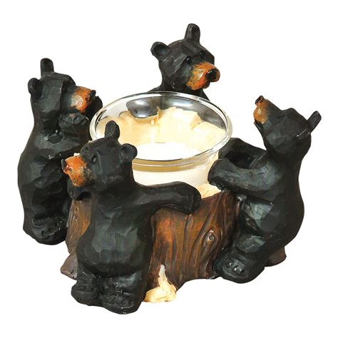 rustic home decor black bear going to the woods is going rustic candle holders black bear votive holder black
