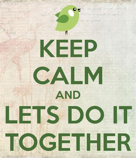 where does st go keep calm and lets do it together poster cris keep