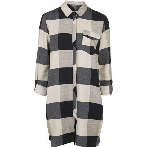 Topshops Cotton Checked Holdall by Topshop Oversized Check Shirtdress 75 Liked On