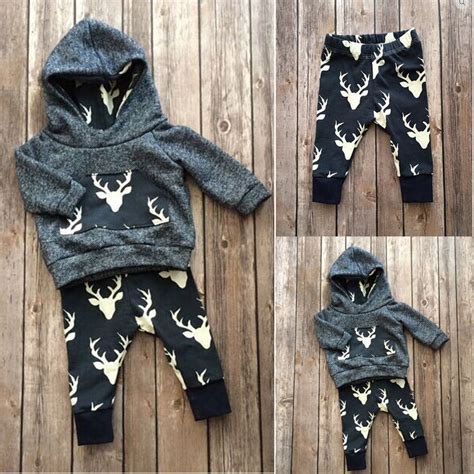 Promo Legging Baby And Animal Pant 3d aliexpress buy baby boys clothes set warm deer tops hoodie top pant