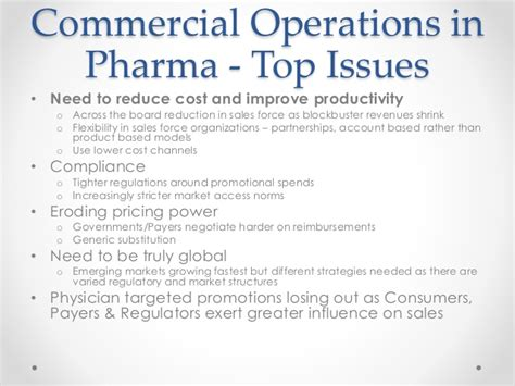 commercial model pharma pharma commercial operations