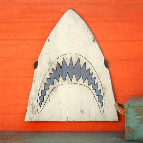 baby shark metal shark head decor great white shark jaws fish nautical
