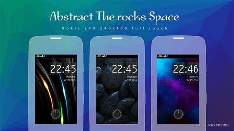theme asha 311 full touch rocks abstract space theme full touch 240x400 asha 305