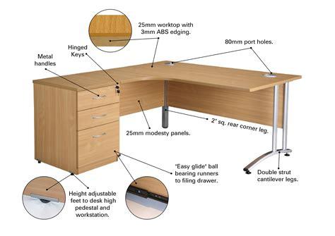 beech radial workstation pedestal office furniture