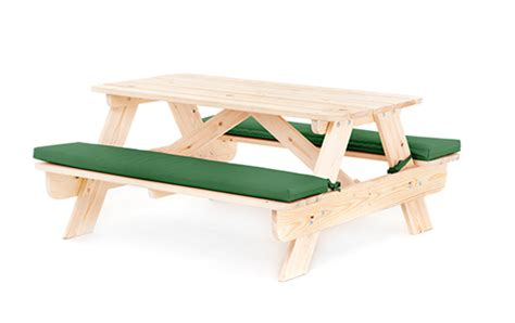 picnic table bench cushions children s kids outdoor furniture wood play picnic table bench set garden patio ebay