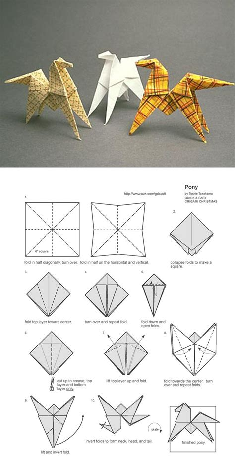 paper origami animals origami pferd at pinteres