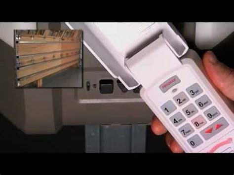How To Program A Garage Door Wireless Keypad To Opener Overhead Garage Door Opener Keypad