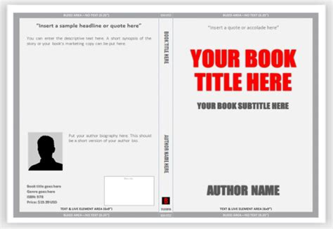 Word Templates For A Book | best photos of create a book template templates book