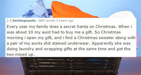 bad christmas gifts the worst christmas gifts people have ever received