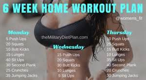 6 week home workout plan military diet