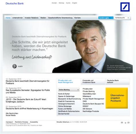 willkommen bei der deutschen bank what color is your money showcase of bank websites