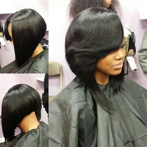 layered bob sew in hairstyles for black women for older women sew in bob bobs pinterest bobs