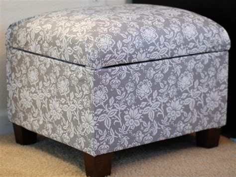 covering an ottoman how to re cover an upholstered ottoman how tos diy