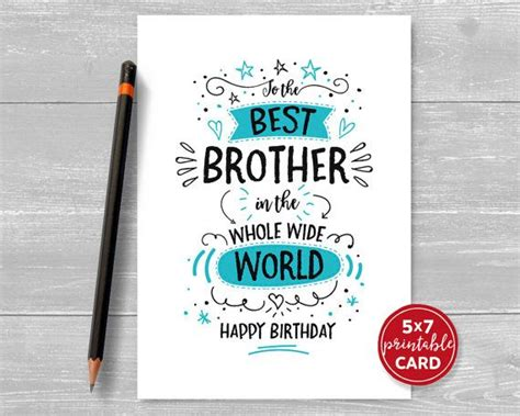 happy birthday brother cards printable 114 best printable cards images on pinterest a4
