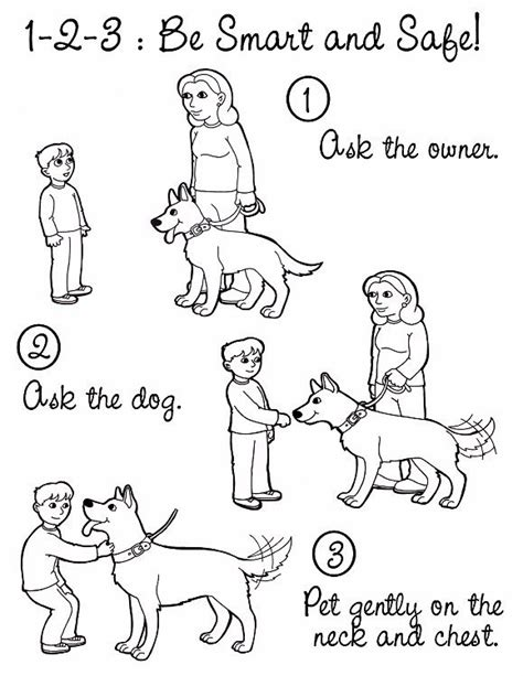 coloring pages for child safety 8 best and pets images on animals