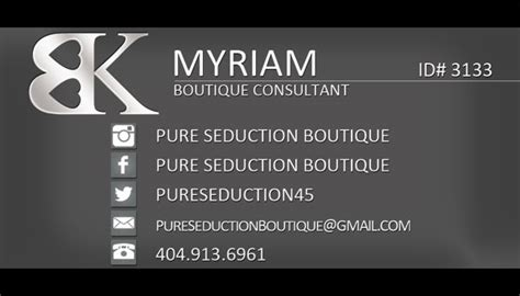 bedroom kandi boutique consultant business cards tight