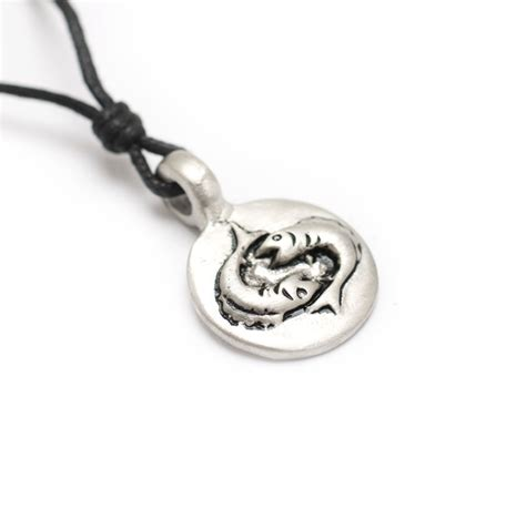 astrology silver pewter charm necklace pendant horoscope