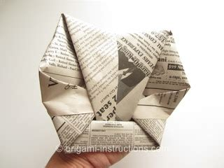 How To Make A Baseball Out Of Paper - origami origami baseball mitt