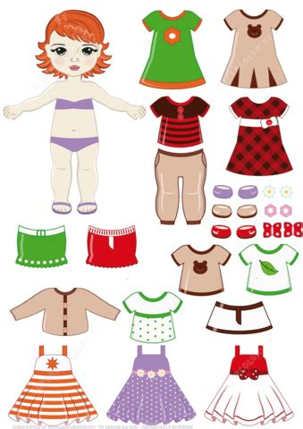 red headed girl child  clothing set  printable