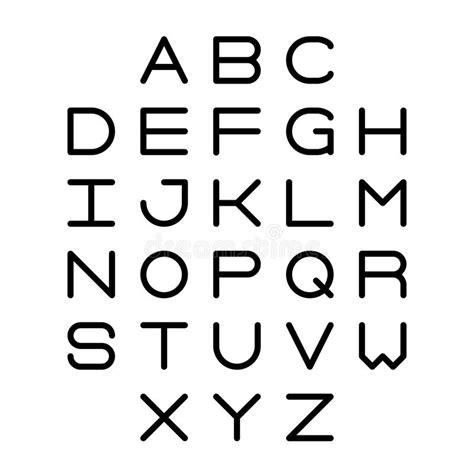 lettere dell alfabeto stilizzate lettere stilizzate illustrazione vettoriale illustrazione