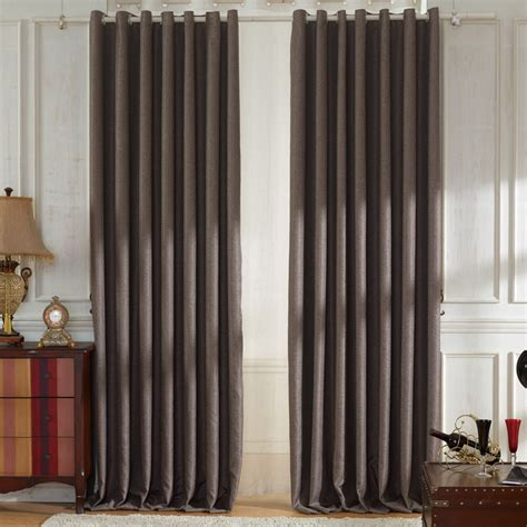 modern curtains living room decorative solid brown modern curtains living room