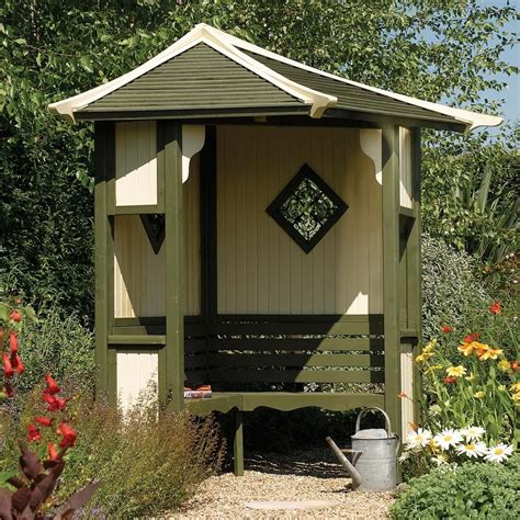 Wooden Arbour 12 Wooden Garden Arbours For Completely Enjoyment During