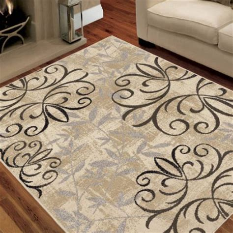 durable entryway rugs area rug stain resistant durable iron fleur living room dining entryway beige ebay