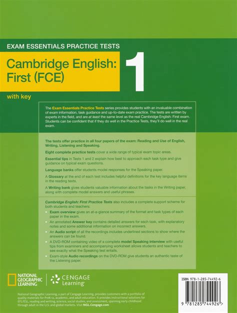 Exam Essentials Practice Tests Cambridge English: First (FCE) 1 with Key and DVD ROM
