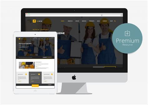 10 Free Bootstrap Construction Company Website Templates 2018 Free Construction Website Templates Bootstrap