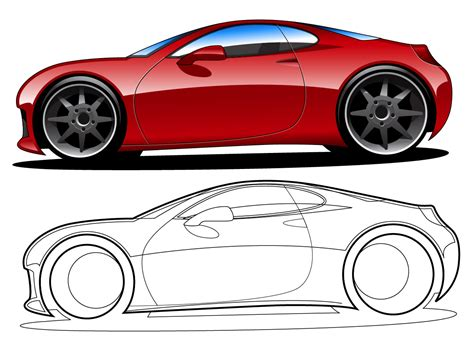 cartoon sports car side sports car side view sketch www imgkid com the image