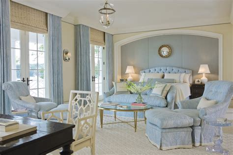 classic light blue bedroom design interiors  color