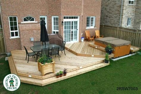 backyard deck designs with hot tub hot tub deck designs this deck plan is for a large two