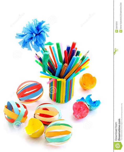 colored white out crafts out of colored paper stock photo image 53676910