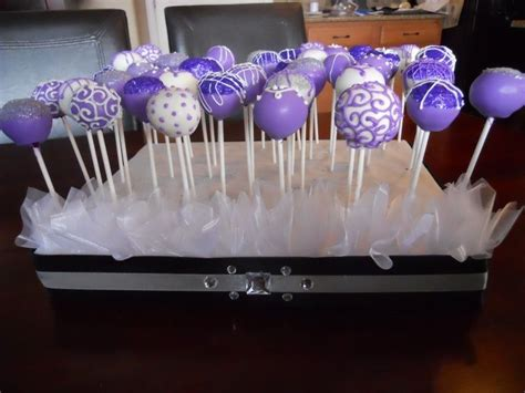 Bridal Shower Cakepops by 25 Best Ideas About Purple Cake Pops On Cake
