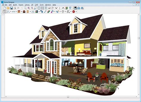 Realistic 3d Home Design Software chief architect suite designer 2012 pc amazon co uk