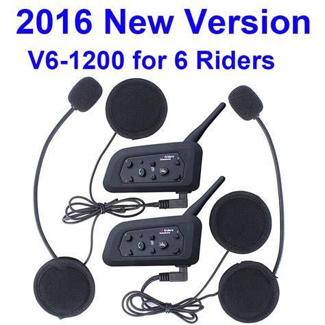 Cheap 2016 New ! V6 Helmet Intercom walkie talkie 6 Riders