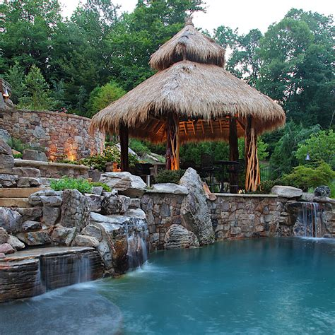 Tiki Bar Thatch Roof Thatched Roof Tiki Bar Swimming Pool Custom Work