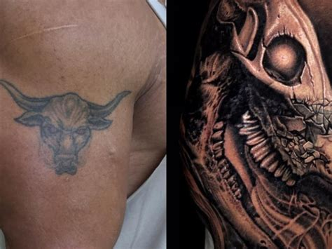 dwayne johnson tattoos evolution of the bull dwayne johnson shares 22 hour