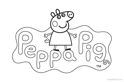 dibujos infantiles para colorear en pdf dibujo peppa pig para colorear etapa infantil