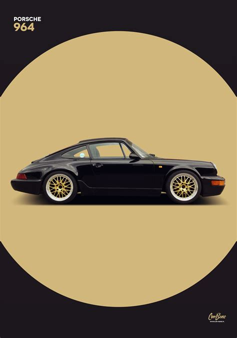 Porsche Poster by Porsche 911 964 2 Poster Vertical Car Bone Pl