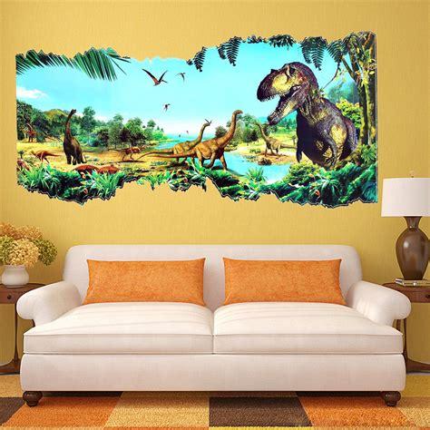 dinosaur home decor 3d jurassic world park dinosaur wall sticker kids room
