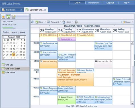 download free software lotus notes calendar template
