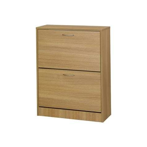 wilkinsons shoe storage shoe cabinet 2 door oak effect at wilko
